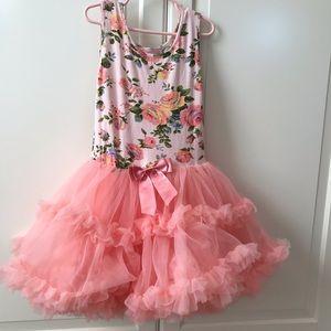 flowery pink tutu dress